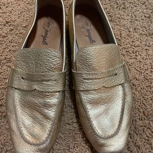 gold Free People flats